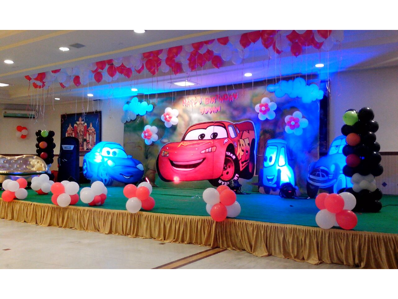 Car Theme Decoration By Birthday Party Events Hyderabad