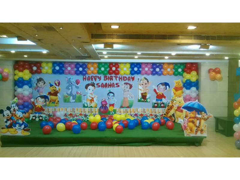 Cartoon Decoration By Birthday Party Events Hyderabad